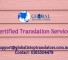 30 Sept Certified Translations services
